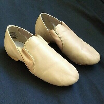American Ballet Theatre Spotlight NWB Girl Tan Leather Jazz Dance Shoes Sz 3
