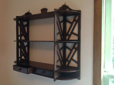 Pair of Antique Mahogany Display Shelves Excellent Condition