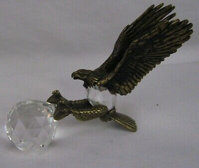 Manon ~ 1984 Brass 3 Inch Eagle With Crystal