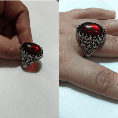 Ancient ANTIQUE Victorian Silver Ring Natural Carnelian stone Old Rare Vintage