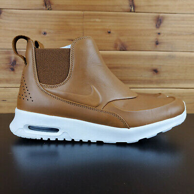 Nike Air Max Thea Mid Ale Brown Sail Womens Chelsea Sneaker Boots 859550 200 New