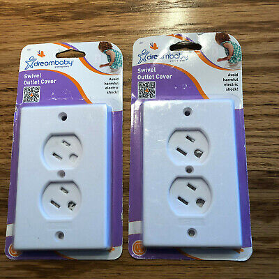 Dreambaby Swivel Outlet Cover White Plastic Set of 2 New in Package