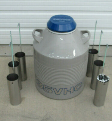 Taylor Wharton 35VHC Union Carbide Cryogenic Equipment Chamber With 6 Canisters