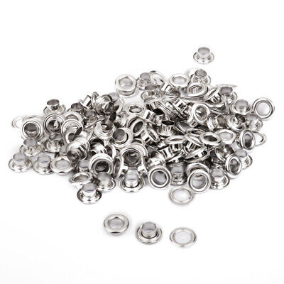 100 SETS 10mm Silver Copper Eyelets w/ Washers Leather Craft Repair Grommet