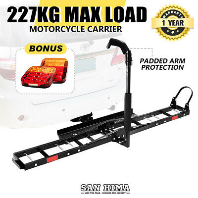 "【15% OFF】Motorcycle Motorbike Carrier Rack 2"" Towbar Rack Dirt Bike Ramp Steel"