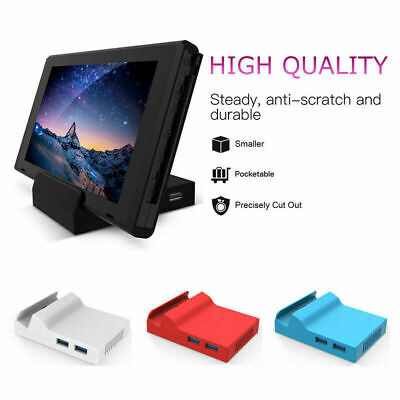 For Nintendo Switch Docking Station Mini Replacement Dock Case DIY Travel Stand