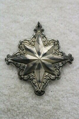 Vintage Towle 1999 Star Sterling Silver Christmas Ornament