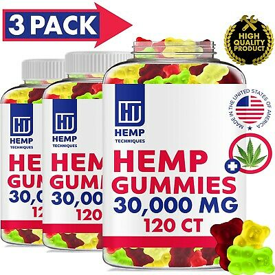 360 CT 30000 MG Hemp Gummies for Pain & Anxiety Fruity Gummy Bears with Hemp Oil