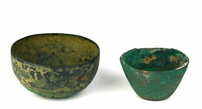 *SC*A PAIR OF GRECO-PERSIAN DECORATED BRONZE BOWLS, early 2nd-1st mill. BC!