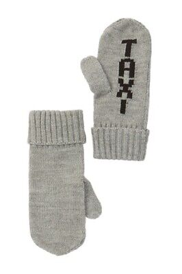 KATE SPADE New York Women's KS1001124 TAXI Knit Mittens Grey One Size