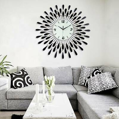 60Cm Extra Large Metal Diamond Wall Clock Big Giant Open Face Round Hangings