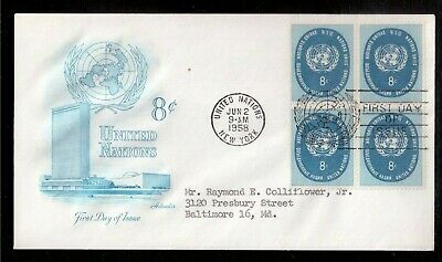 United Nations New York 1958 First Day Cover !!