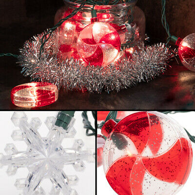 8ft Plugin String Lights 10 Large LED Bulbs Christmas Holiday Indoor Outdoor