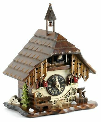 Table Clock Black Forest House 28cm- Cuckoo Clock Cuckoo Clock Real Wood