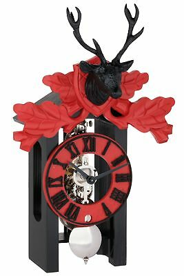 Hermle -schwarz-rot 33cm- 23032-740721 High Quality Analog Table Clock With
