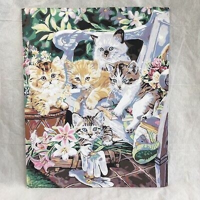 Paint By Number Vintage Cat Picture 20 x 16.25