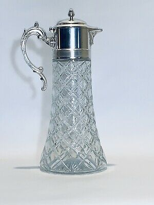 Fabulous Vintage 14 Inches Tall & 54 Oz Italian Silver Plated Wine Carafe