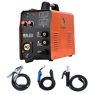HITBOX Mig Welder MIG250 MIG Lift TIG ARC Gas Gasless 4 in 1 220V weld machine
