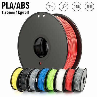 【20% OFF】3D Printer Filament PLA ABS 1.75mm Accuracy +/-0.02mm 1KG Black White