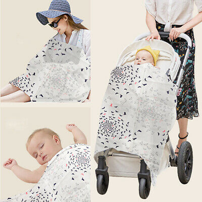 Baby Mum Breastfeeding Nursing Breast Cover Thin Cotton Towel Cover Up Blanket