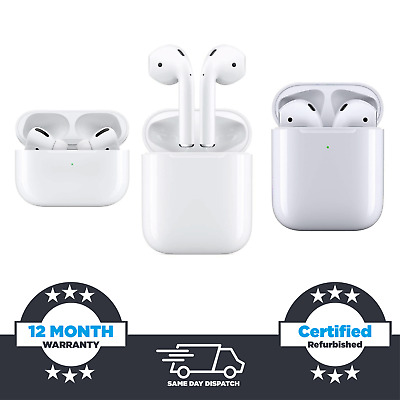 Apple Airpods w/ Charging Case White 1st / 2nd / Pro Models Available UK SELLER