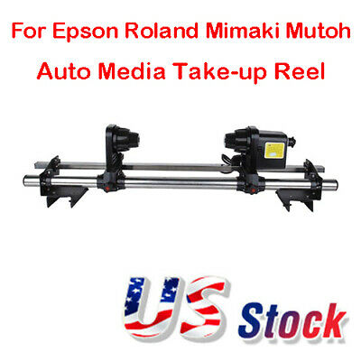 110V Auto Media Take up Reel Roller System For Epson Roland Mimaki Mutoh USA