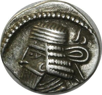 T9374 Rare KINGS of PARTHIA Vologases I Second reign circa AD 58-77 AR Drachm