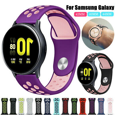 Silicone Sports Watch Band Strap for Samsung Galaxy Watch 42 46mm/Active 2 40 44