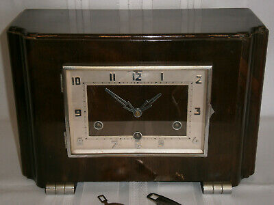 Deco Vintage Westminster Chime Wind-Up Wooden Mantel Clock 1930-40's