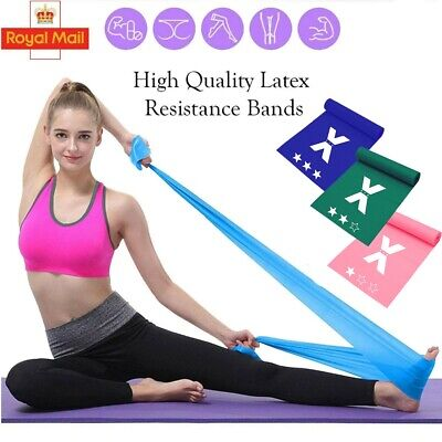 Hip Circle Resistance Band Set of 5 Pull Up Glutes Latex Exercise Loop Bands UK