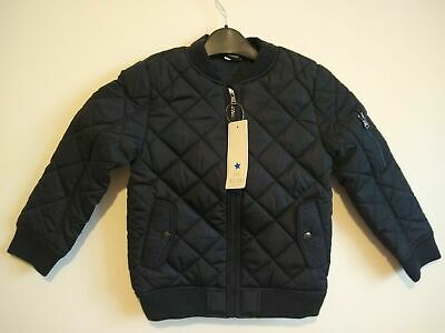 Kids Boys Girls Plain Padded Quilted Warm  Bomber Jacket Coat age 5-10 yrs