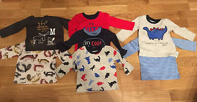 7 Brand New Long Sleeved Top George F&F Age Size 3-6 Months Boys T Shirts Bundle