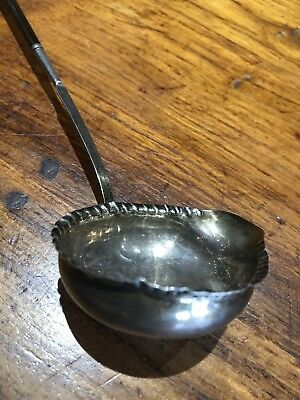 """Antique Hallmarked Silver & Horn Georgian 1700'S Punch Toddy Ladle  14"""" Long"""