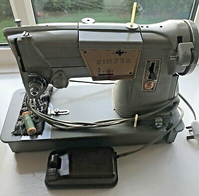 SINGER 328K Electric Cams Sewing Machine Clip-on Case Good Working condition