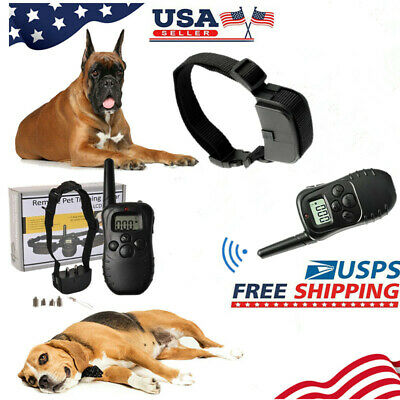 300m Dog Shock Collar With Remote Waterproof Electric Pet Training Waterproof