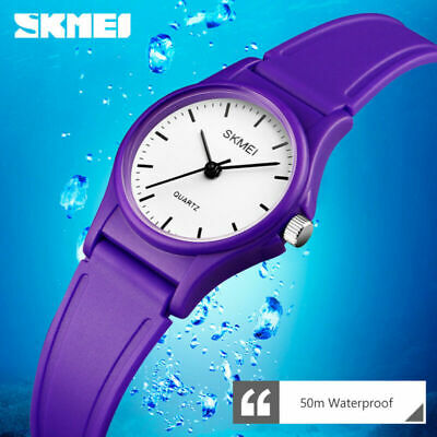Skmei Kids Sports Wristwatch Boys Girls 50M Waterproof Cute Quartz Watch 1401 F