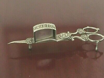 antique candle snuffer scissor type fully hallmarked dated 1820 (rare find)