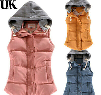 New Womens Girls Gilet Quilted Puffer Padded Sleeveless Body Warmer Jacket Coats