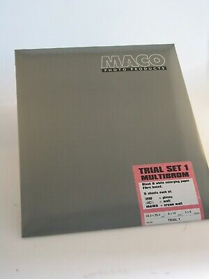 MACO FIBRE BASED MULTIBROM TRIAL PACKS OF PAPER  10x8inch - 30 Sheets