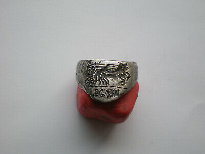 RARE Ancient Roman Legionary Archer SILVER  Ring -Legio XXII