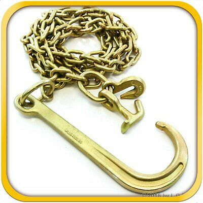 2 Pack Mytee Products 5//16 x 6 Long Shank J Hook Tow Chain//w RTJ Cluster /& Grab Hook