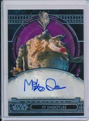 2017 Topps Star Wars 40th Anniversary Mike Quinn as Sy Snootles Autograph /40