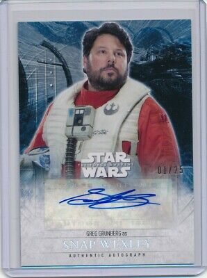2016 Star Wars The Force Awakens 2 Greg Grunberg as Snap Wexley Autograph 1/25