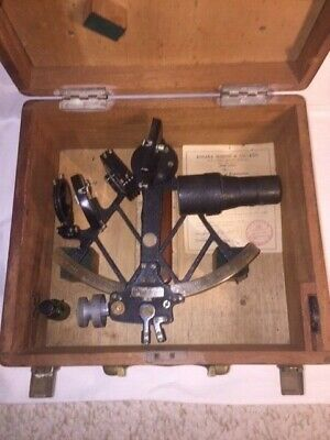 Antique Original Marine Sextant by B. Cooke & Sons Ltd. (London) w/Mahogany Case