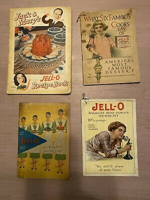 JELL-O Advertising Booklets ~ Lot of 4 ~ 1909 to 1930s