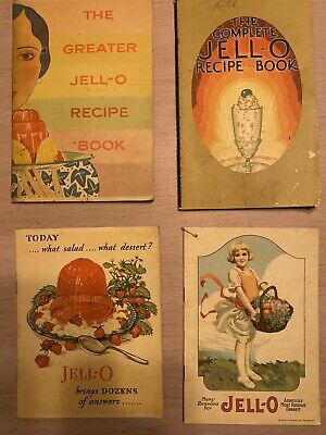 JELL-O Advertising Booklets ~ Lot of 4 ~ 1920 to 1931
