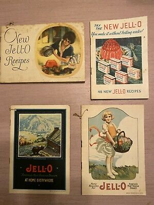 JELL-O Advertising Booklets ~ Lot of 4 ~ 1920 to 1932