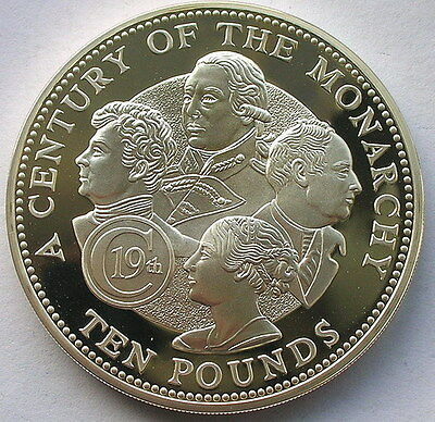 Guernsey 2001 19th Century Monarchy 10 Pounds 4.55oz Silver Coin,Proof