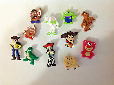 7 x Crocs Jibbitz Shoe Charms Toy Story Characters Baby Gift