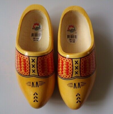 Traditional Wooden Dutch Clogs Shoes 20Cm  Long Hand Made In Holland